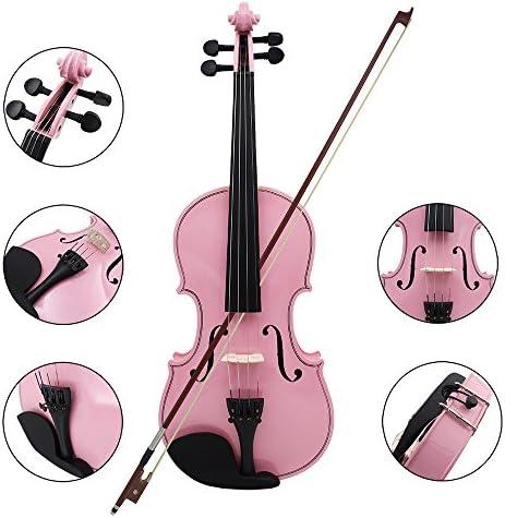 4//4 Viol/ín Tilo de Viol/ín Cuerdas de Acero Arco del Cenador Instrumento de Cuerda para los Principiantes de los Amantes de la M/úsica