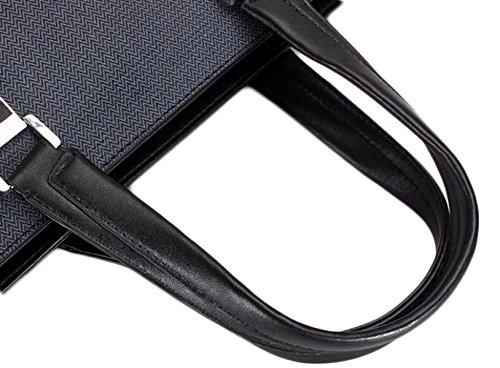 Men's Briefcase Handbag Pack Pvc Business Bag Messenger Ballet Grey qgvrTqw4x