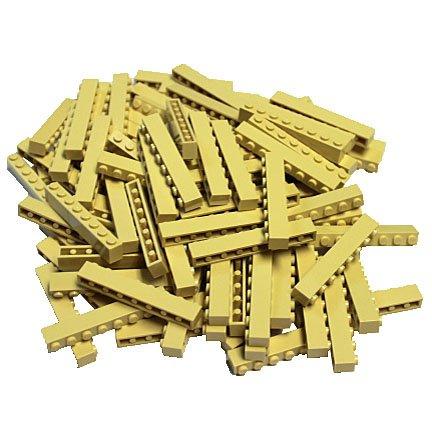 LEGO Tan (Brick Yellow) 1x8 Brick x100