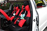 20pcs/SET Popular luxury Women love cartoon Lover Seat Covers for cars Front & Back car covers four seasons Universal car seat cover car interior red & Black V5612