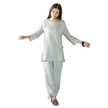 70491f72bca59a KSUA Tenue de Tai Chi de Coton de Lin Uniforme de méditation de Zen de  vêtements