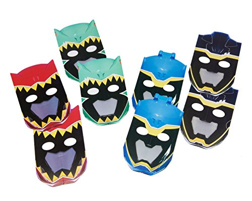 [American Greetings Power Rangers Dino Charge Masks (8 Count)] (Power Rangers Masks)
