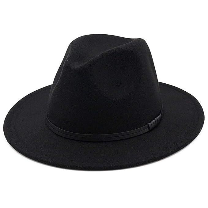 OLIS,Cappello Fedora Feltro Borsalino Trilby Panama Cappelli Per Uomo Donna  Inverno aa5505fc988e
