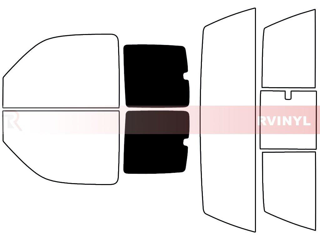 2 Door Rtint Window Tint Kit for GMC Sierra 2000-2006 - Rear Windshield Kit 5/%