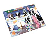 Doggie of the Day Rub A Dub Dogs in A Tub Boston Terriers Dog Blanket BLNKT130359 (60x80 Woven)