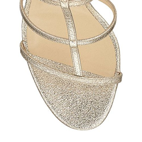 Minitoo Ladies MA52536 Fashion Caged Cut Out Glitter Party Sandals Gold 6L9rxtI