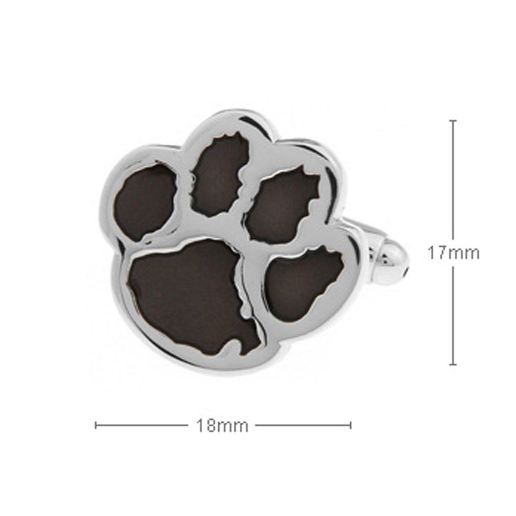 1 Pair Mens Dog Animal Paw Cufflinks Shirt Cuff Links for Wedding Gift