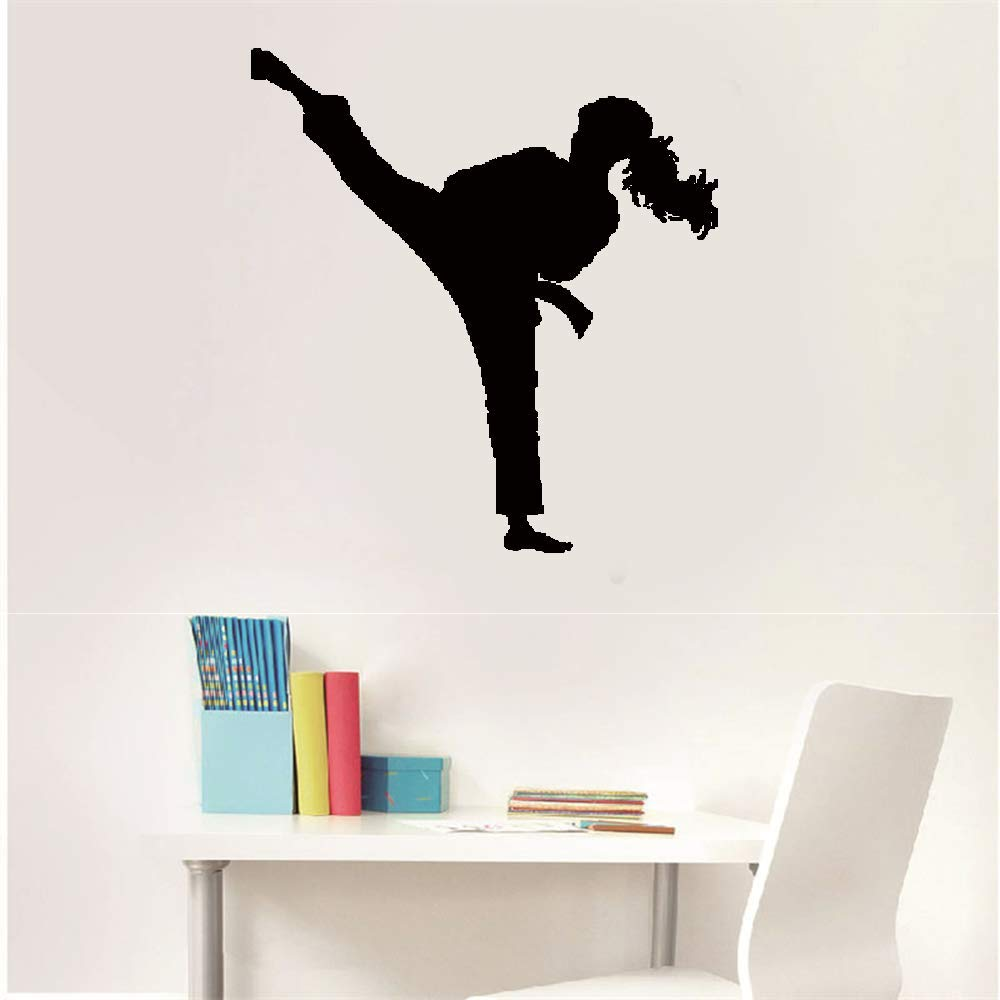 Wall Stickers Decal Removable Vinyl Decal Quote Art Sport Karate Sidekick Kick Martial by Perauz