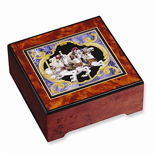 (The San Francisco Music Box Company Encore! Carousel Horse Jewelry Box by)