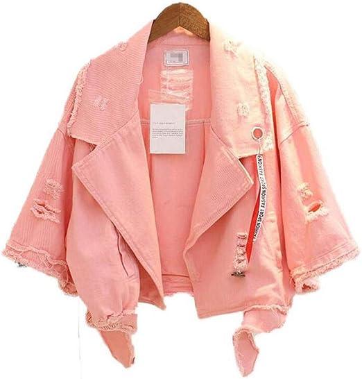 NSWTKL Jeansjacke Bright Colors Denim Damen Jacke Half