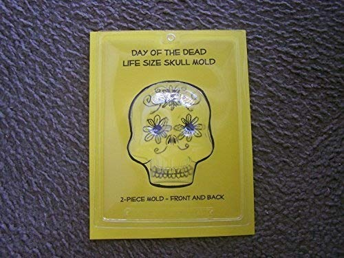 Extra Large XL 2-Sided Skull Mold - Day of the Dead Sugar Skulls, Candy Skulls -