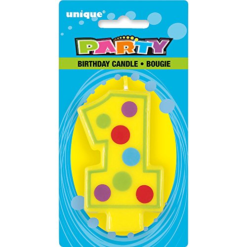 Decorative Polka Number Birthday Candle product image