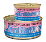 Natural Balance Canned Cat Food, Reduced Calorie Formula, 24 x 6 Ounce Pack, My Pet Supplies