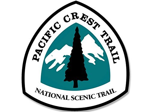 Pacific Crest Trail National Scenic Sign Shaped Sticker (hike historic decal) (4