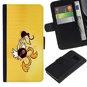 NEECELL GIFT forCITY // Billetera de cuero Caso Cubierta de protección Carcasa / Leather Wallet Case for Sony Xperia Z3 Compact // Pato baile occidental divertido