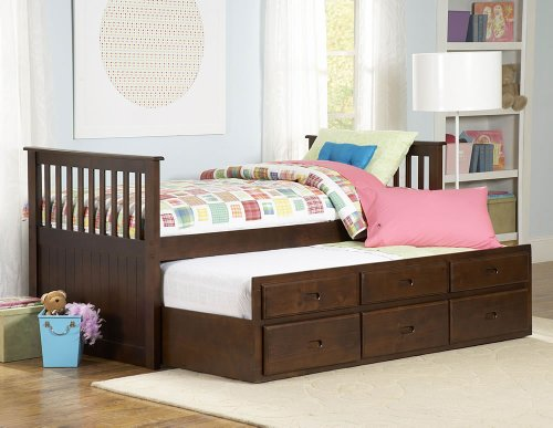 Twin/Twin Trundle Bed of Zachary Collection by Homelegance -