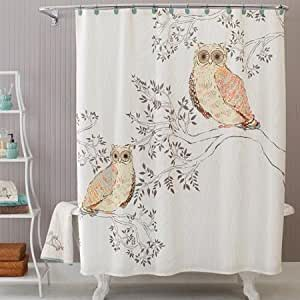 Amazon Com Owl Fabric Shower Curtain By Better Homes