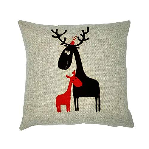 - Throw Pillow Cover, DaySeventh Cotton Linen Square Home Decorative Throw Pillow Case Sofa Waist Cushion Cover 18x18 Inch 45x45 cm