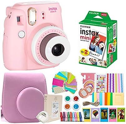 Fujifilm Instax Mini 9 Cámara de película + Fuji Instax Mini película + Instax Accesorios Kit Bundle, para niños cámara instantánea para niños: Amazon.es: Electrónica
