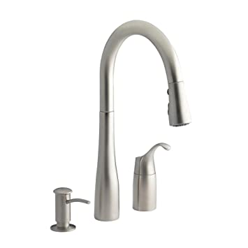 Kohler Simplice Three-hole kitchen sink faucet with 9\