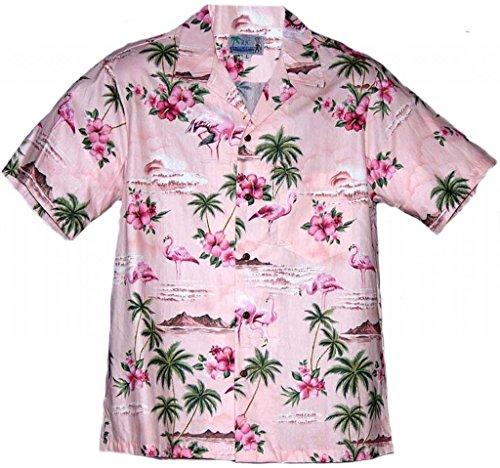 RJC Brand Flamingo Paradise Men's Hawaiian Shirt Pink XL (Pink Shirt Hawaiian)