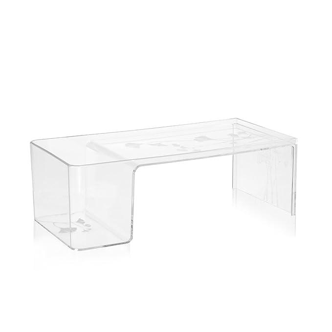 Kartell Tavolino Usame.Kartell 8840b4 Table Usame 84 X 28 X 40 Cm Transparent