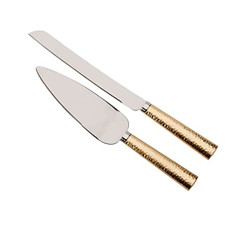 Amazon.com: Oro clavado Mango Cuchillo & Server Set, 13