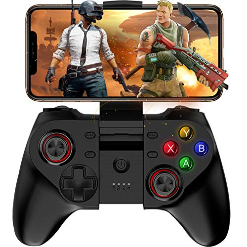 Mobile Game Controller, Megadream Wireless Key Mapping Gamepad Joystick Perfect for PUBG & Fotnite & More, Compatible for iOS Android iPhone iPad Samsung Galaxy Other Phone & Tablet PC - Direct Play (The Walking Dead Last Day On Earth)