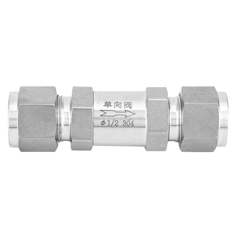 304 1//2 Female Thread Non Return One Way Check Valve,for Pipe Connection of Gas, Water,Oil,etc. Acogedor 304 Stainless Steel Check Valve,BSPP
