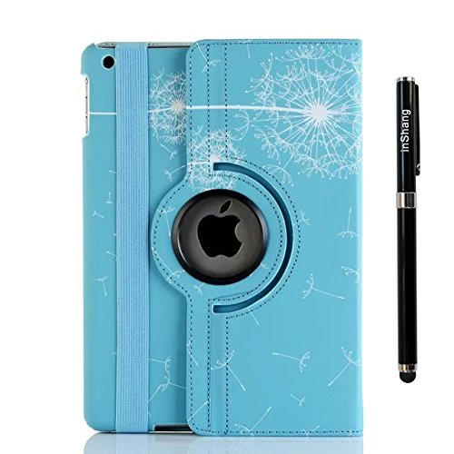 inShang Case for iPad Air 2 iPad 6 iPad6 (2014-2015 Version) Premium PU Leather Case cover stand - 360 degree rotating Style Auto Sleep/Wake Case+1pc business stylus Pen