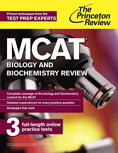 Download MCAT Biology and Biochemistry Review: New for MCAT 2015 (Graduate School Test Preparation) Pdf