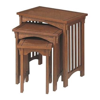Powellu0026quot;Mission Oaku0026quot; 3 Piece Nested Tables