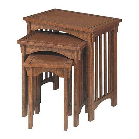 Powell U0026quot;Mission Oaku0026quot; 3 Piece Nested Tables