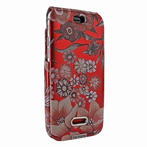 Piel Frama 676 Red Flower iMagnum ESSENCE iMagnum Leather Case for Apple iPhone 6 / 6S / 7 / 8 by Piel Frama (Image #1)