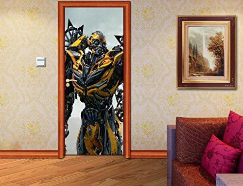 Transformers Bumblebee Autobot DOOR WRAP Removable Decal Wall Sticker Mural D174, 200x80