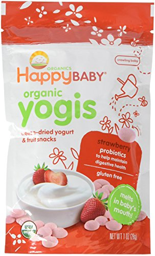 Organic Yogurt Melts Strawberry 1 Ounces (8 Count) by Happy Baby