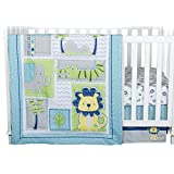 Trend Lab Jungle Roar 4-Piece Crib Bedding Set, Yellow