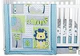 Trend Lab Jungle Roar 4 Piece Crib Bedding Set, Yellow