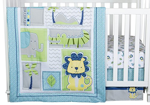 Trend Lab Jungle Roar 4 Piece Crib Bedding Set, Yellow