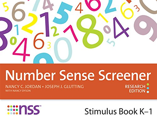 Number Sense Screener (NSS) Stimulus Book, K–1, Research Edition