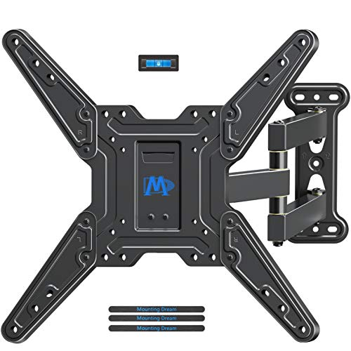 (Mounting Dream Full Motion TV Wall Mounts Bracket with Perfect Center Design for 26-55 Inch LED, LCD, OLED Flat Screen TV, TV Mount with Swivel Articulating Arm, up to VESA 400x400mm MD2413-MX)