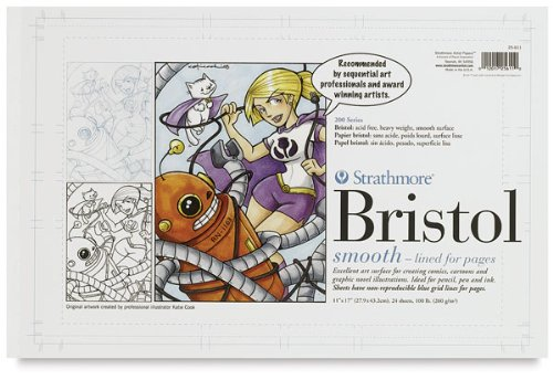UPC 012017560125, Strathmore ST236-82 11 in. x 17 in. 2-Ply Semi-Smooth 500 Series Sequential Art Bristol Paper Sheets