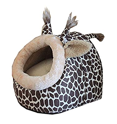 niceeshop(TM) Deer Shape Cozy Puppy Kitten Pet Dog Cat Cotton Bed Nest Cave