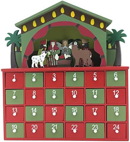 [해외]PIONEER-EFFORT Christmas Wooden Nativity Advent Calendar24 Drawers to Fill Candy and Small Surprise for Adults and Kids / PIONEER-EFFORT Christmas Wooden Nativity Advent Calendar24 Drawers to Fill Candy and Small Surprise for Adult...
