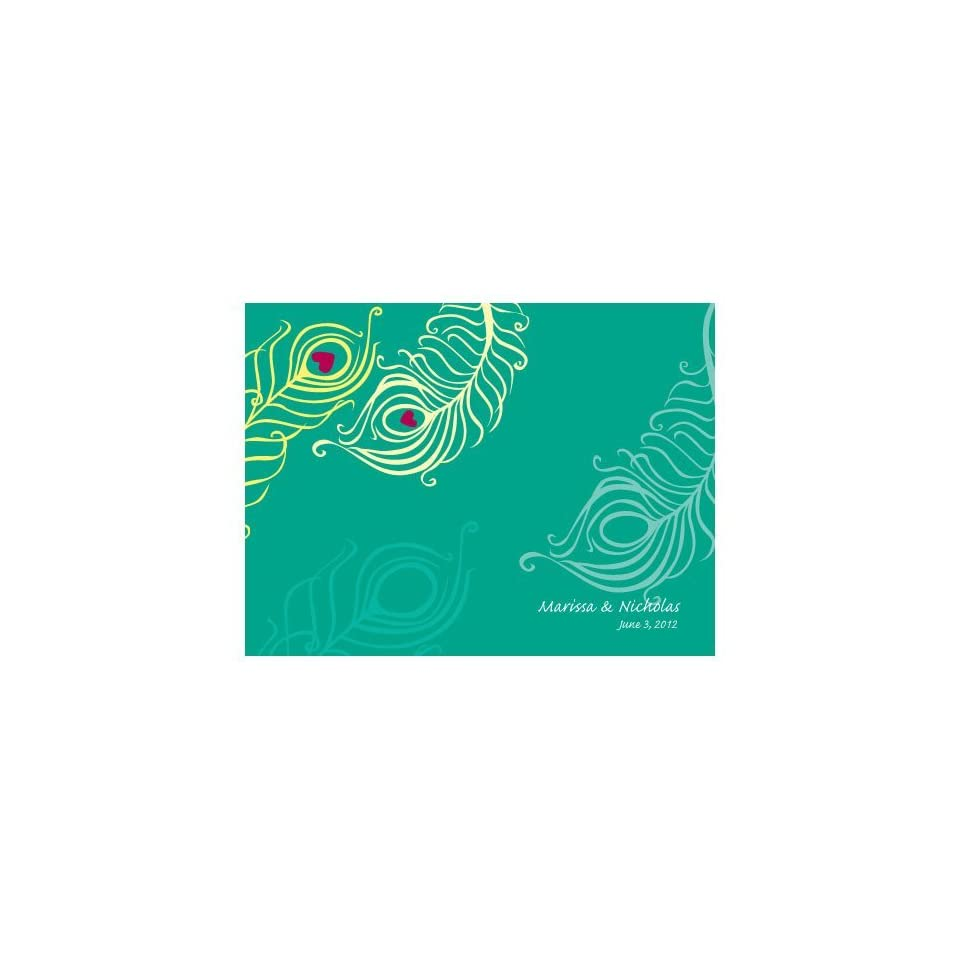 Personalized Perfect Peacock Wedding Note Card W1049 04 Quantity of 1
