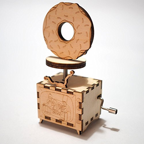The Simpsons Music Box - Main Theme - Laser cut and laser engraved wood music box. Perfect gift, memorabilia or collectible