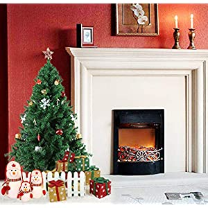 Dporticus 5 Foot Eco-Friendly Artificial Christmas Pine Tree with Solid Metal Legs 450 Tips Full Tree (Green) 10