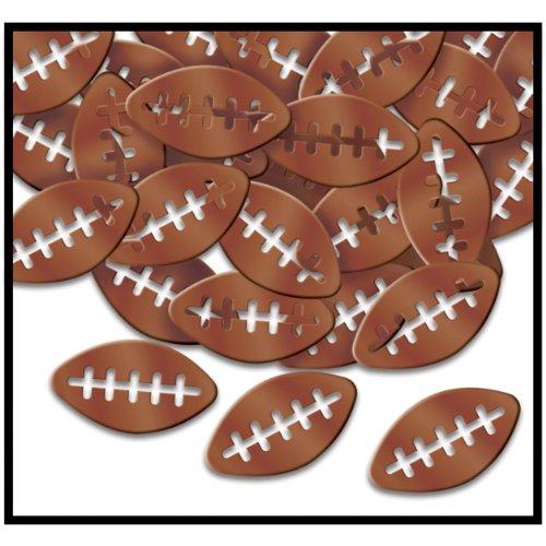 Fanci Fetti Footballs brown Party Accessory