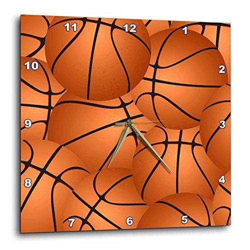 3dRose Basketball Pattern - Orange Brown Basket Balls - Sport