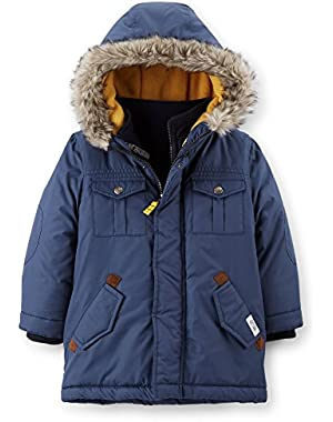 Little Boys Coat Jacket 4-in-1 Heavyweight (3T, Blue)